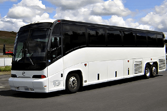 50 passenger charter bus Hughes