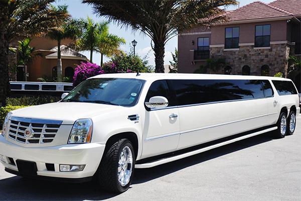 Cadillac Escalade limo interior Bartlett