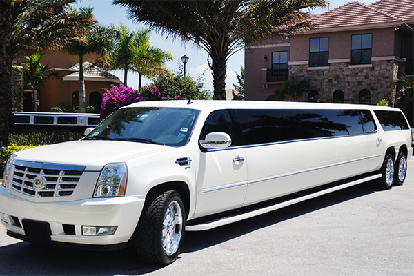 Cadillac Escalade limo interior Kerrville