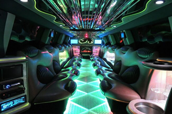 Hummer limo interior East Memphis